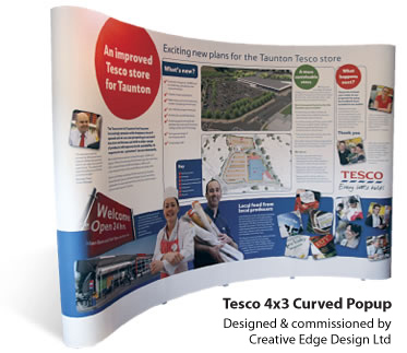 Curved Popup Displays