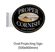 Oval Projecting Sign