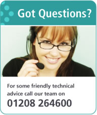For Some Friendly techincal advice call our team on 01726 893129